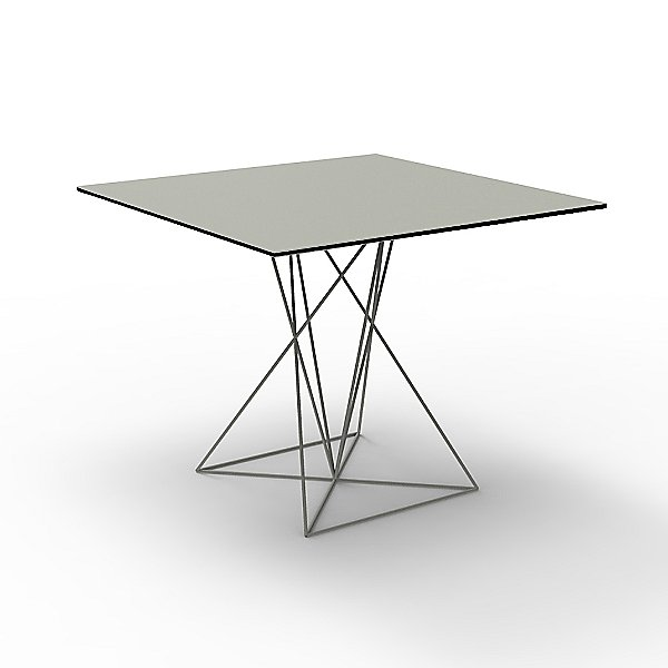 Faz Square Table with Stainless Steel Base