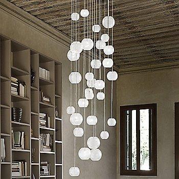 White glass, illuminated