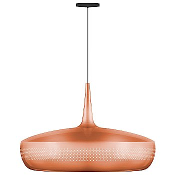 Shown in Brushed Copper finish, Black