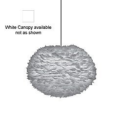 Eos Large Pendant Light (Grey/White/6 ft. 10 in.) - OPEN BOX