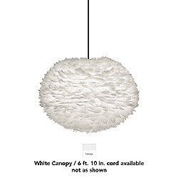 Eos Large Pendant Light (White/White/6f.10in. cord)-OPEN BOX
