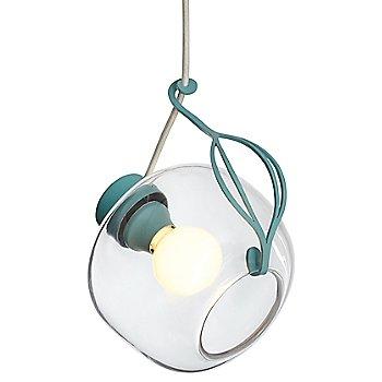 Shown lit in Satin Aqua finish, White cord