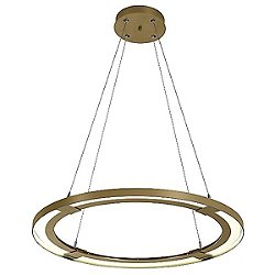 Ringo LED Pendant with Custom Height (Gold)-OPEN BOX RETURN