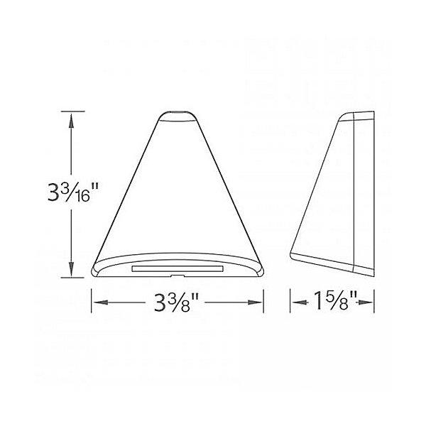 LED 12V Triangle Deck and Patio Light
