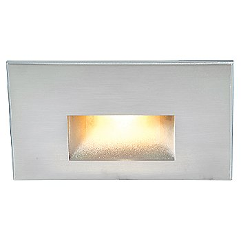 Shown lit in Cast Stainless Steel finish, Amber