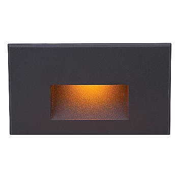 Shown lit in Black on Aluminum finish, Amber