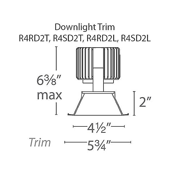 4.5 Inch Trimless Volta Recessed Light