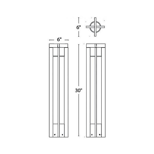 Chamber LED 120V/277V Bollard Light