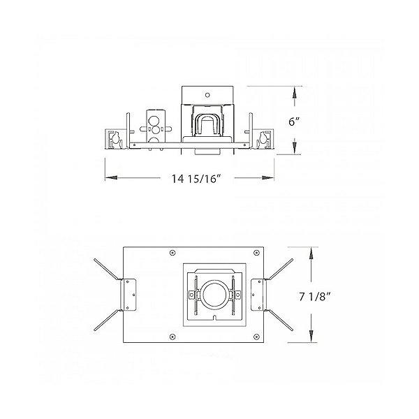 1 Light LED Precision Module Recessed Housing