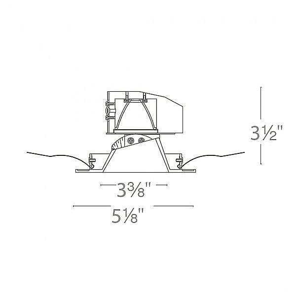 Aether 3.5 Inch Square Adjustable Shallow Housing Trim