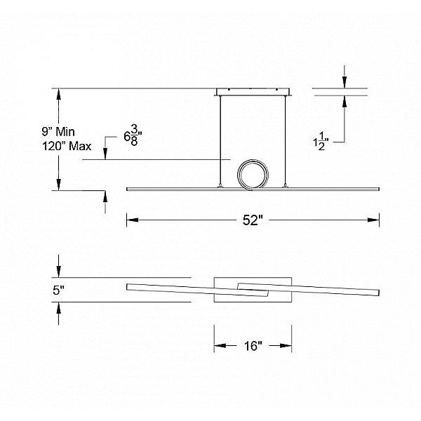 Loophole LED Linear  Pendant  Light