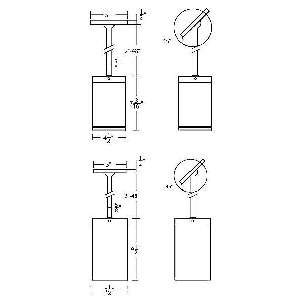 Cube Architectural LED Pendant Light