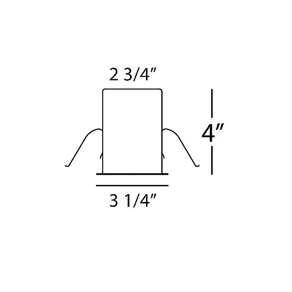 2.5-Inch Low Voltage Remodel Housing