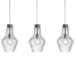Romeo&Giulietta 3-Light Multi-Light Pendant Light - Transparent
