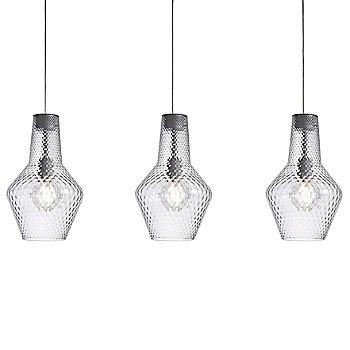 Romeo&Giulietta 3 Light Multipoint Pendant Light - Transparent