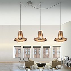 Romeo&Giulietta 3 Light Multipoint Pendant Light - Metallic