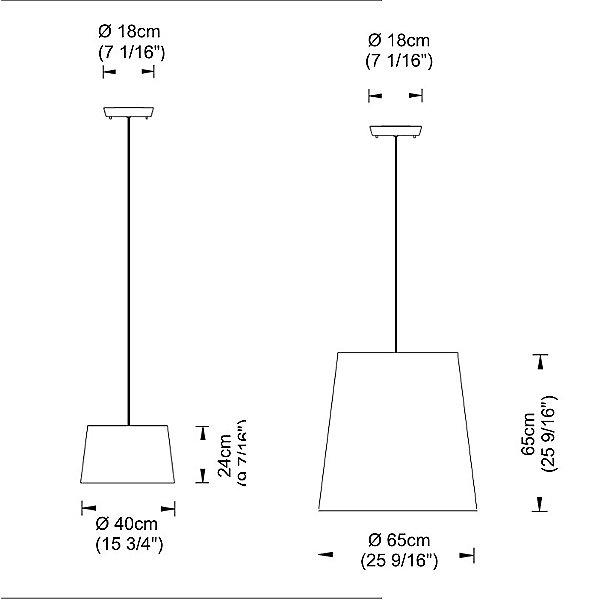 Excentrica Drum Shade Pendant Light