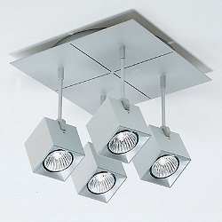 Dau Spot 4 Light Square Ceiling Light
