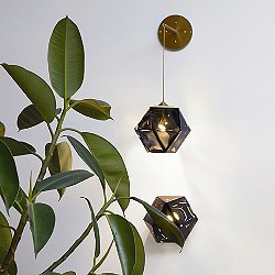 Welles Double-Blown Glass LED Hanging Wall Sconce