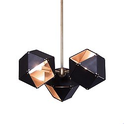 Welles 3 Spoke Pendant Light