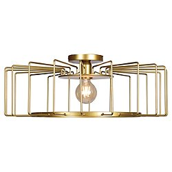 Wired Horizontal Cage LED Flush Mount Ceiling Light