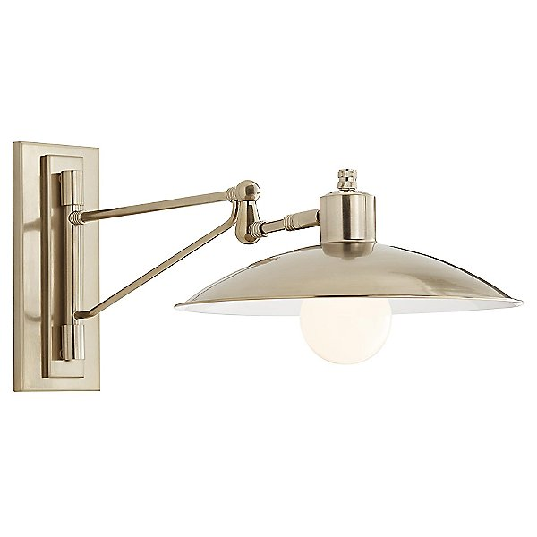 Nox Wall Light By Arteriors - Color: Grey - Finish: Brass - (49172)