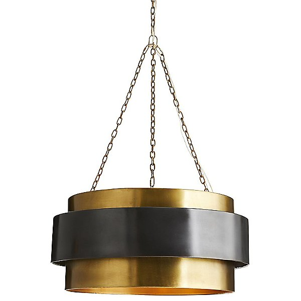 Nolan Drum Pendant Light By Arteriors - Color: Gold - Finish: Brass - (84015)