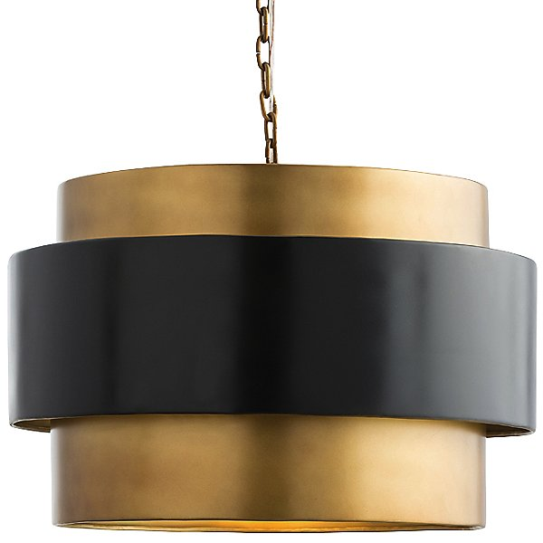 Nolan Pendant By Arteriors - Color: Black - Finish: Brass - (44077)