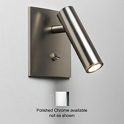 Enna Square LED Wall Sconce (Chrome/Switched) - OPEN BOX