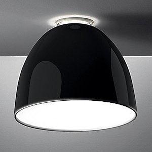 Nur Gloss Ceiling Light (Black/Incandescent) - OPEN BOX RETURN by Artemide