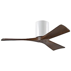 Irene-H 3 Blade Hugger Ceiling Fan (Walnut/Whte/42) - OPEN BOX by Atlas Fan Company