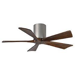 Irene Hugger 5 Blade Ceiling Fan(Walnut/Nkl/42 In)- OPEN BOX