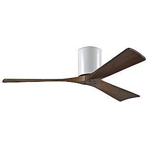 Irene-H 3 Blade Hugger Ceiling Fan (Walnut/Whte/52) - OPEN BOX by Atlas Fan Company