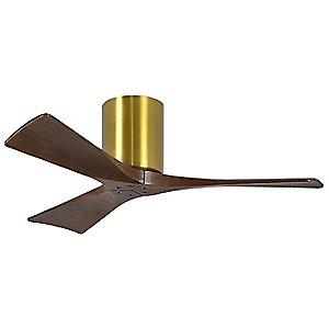 Irene-H 3 Blade Hugger Ceiling Fan (Walnut/Brass/42) -OPEN BOX by Atlas Fan Company