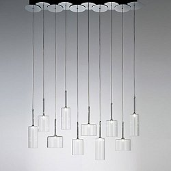 Spillray 10 Light LED Linear Pendant Light