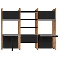Semblance 3-Wide Office System W/ Inline & Peninsula Desks
