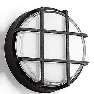 Impact Resistant LED Ceiling and Wall Light With Guard - B33503 (L/Bnz)-OPEN BOX by BEGA