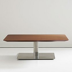 Quiet 36 inch Square Cocktail Table