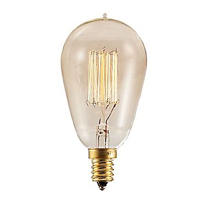 Nostalgic Edison ST15 Vintage Thread Filaments Lamp by Bulbrite