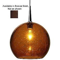 Bobo II Pendant (Amber/Bronze/4 In/Halogen)-OPEN BOX RETURN