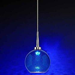Bobo 1 Pendant (Blue Bubble/Matte Chrome) - OPEN BOX RETURN