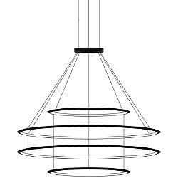 Circular LED 4 Tier Chandelier