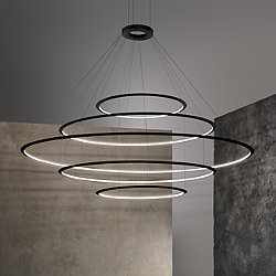 Circular LED 5 Tier Chandelier
