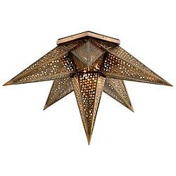 Star Of The East Two Light Semi-Flush Mount Ceiling Light