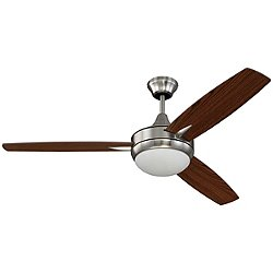 Targas 52 Inch Ceiling Fan (Nickel) - OPEN BOX RETURN