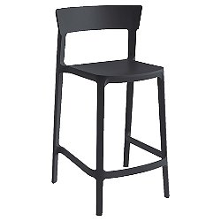 Skin Stackable Stool (Matt Black) - OPEN BOX RETURN