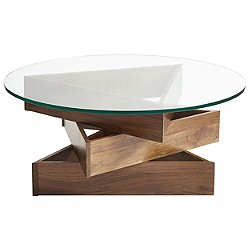 Statements Twist Round Glass Top Coffee Table