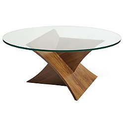 Planes Round Glass Top Coffee Table
