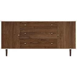MiMo 1 Door on Either Side of 3 Drawers Dresser