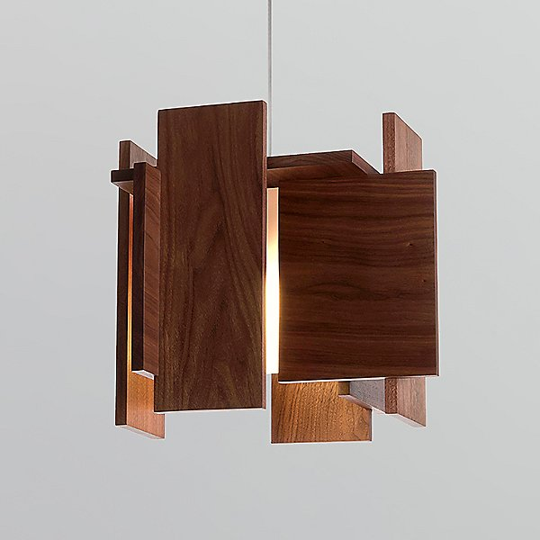 Abeo L Led Pendant Light By Cerno - Color: Wood - Finish: Dark Stained Walnut - (06-190-d-27p1)